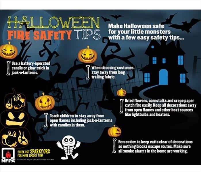 Infographic of Halloween Safety Tips