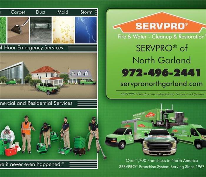 A SERVPRO ad featuring the services we offer to different commercial and residential spaces.